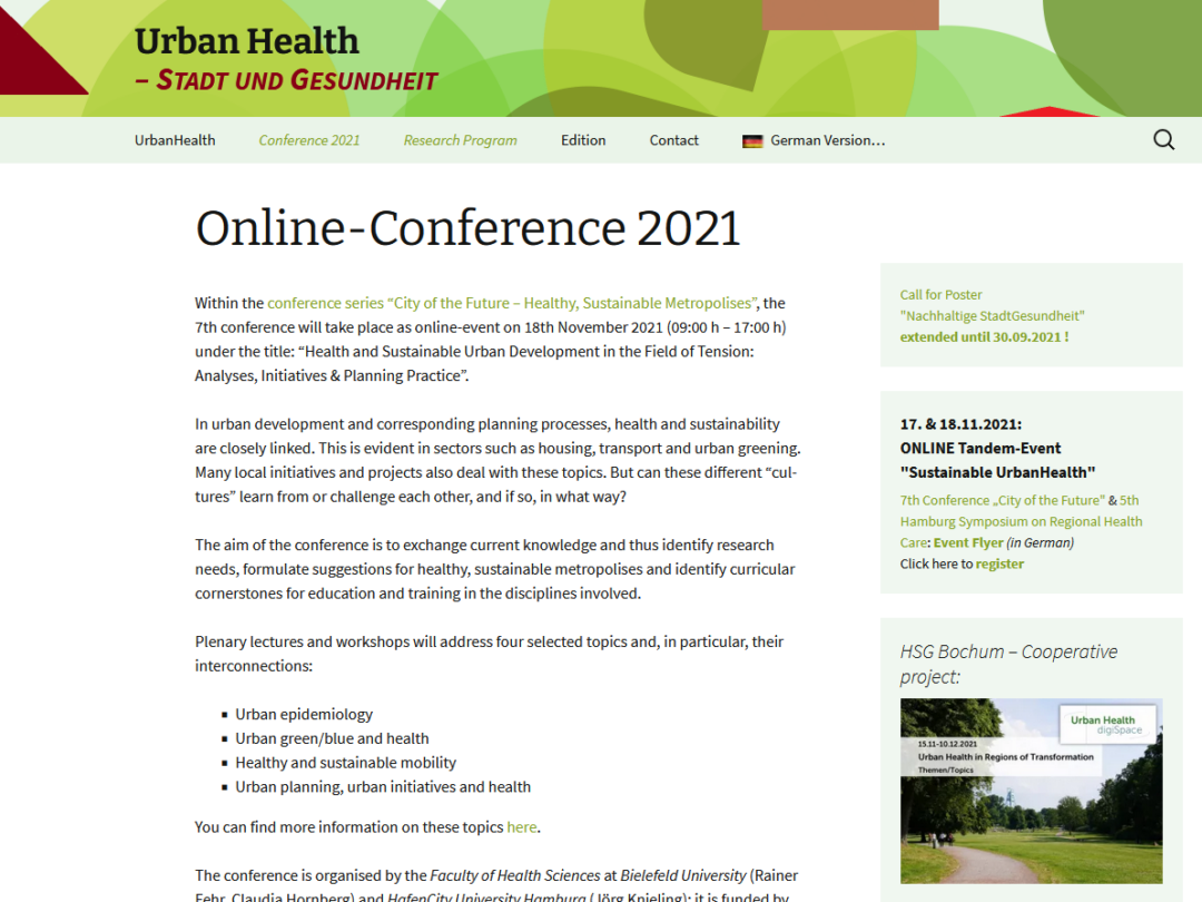 Screenshot City of Future Conference
